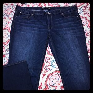 Dark wash low rise Express Jeans 👖 size 18